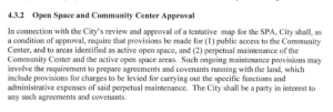 community center approval