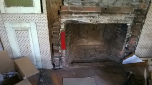 side fireplace exposed